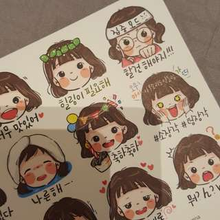 Cute Lallayena Korean Stickers