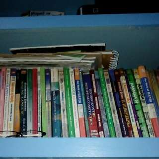 Textbooks and books from elementary