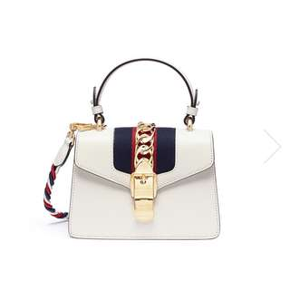 Gucci Sylvie mini leather web leather bag