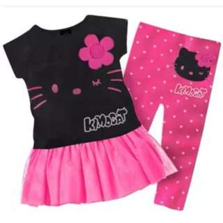 (Pre-order) Kids Dress Set (Black + Pink) #510