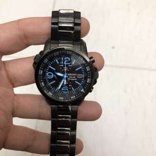Seiko Solar Chronograph Watch