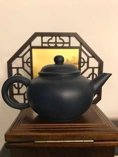 紫砂壶 墨绿泥水平壶 Zisha Teapot