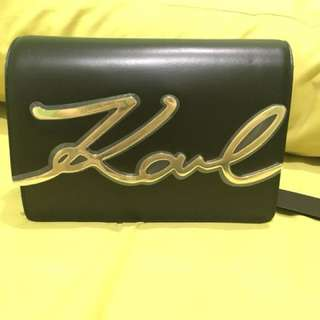 Karl lagerfeld new arrival bags, warna hitam 100% original