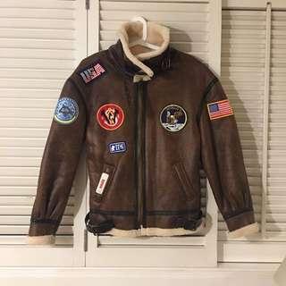 Faux-lambskin winter jacket / coat