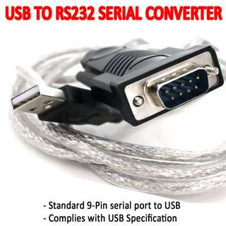 TCP048 USB2.0 to RS232 Serial Adapter Profilic 2303 DB9 Male