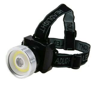 Waterproof Super Bright COB LED Headlamp 2 Mode Head Light Lamp Flashlight