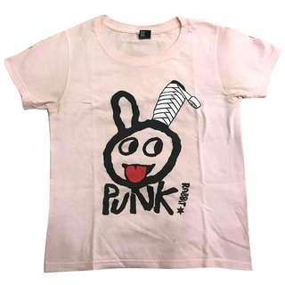 Graniph 🐰休閒 惡搞 趣味 兔子 粉紅色 短T T恤