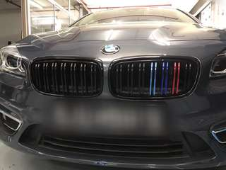 BMW grill strip chrome wrap