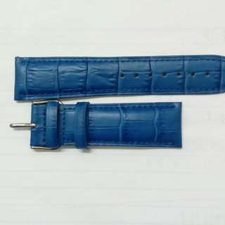 藍色皮錶帶 22mm