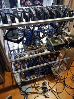 21 gpu Mining Rigs configured and optimised