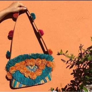 RP$250 USD Original! ARANAZ Maria pompom straw bag / basket bag / summer bag