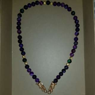 Amulet Necklace (purple dragon)