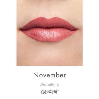 COLOURPOP • Ultra Satin Lip (November)
