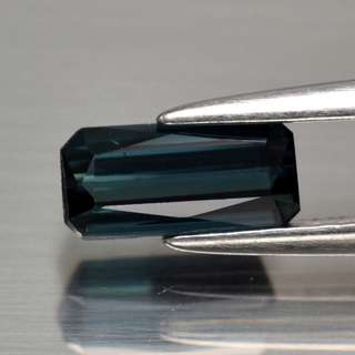 0.76ct Octagon Natural Blue Tourmaline