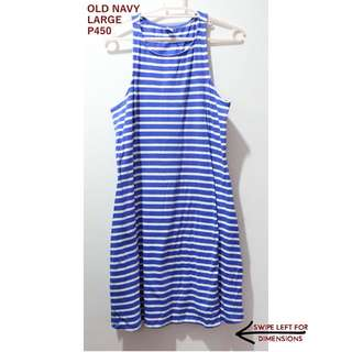 Old Navy Blue And White Stripes Dress