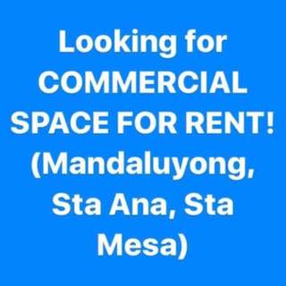 Looking for commercial space