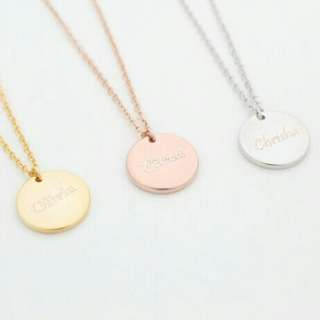 [PREORDER] Custom Engraved Personalised Name Coin Necklace