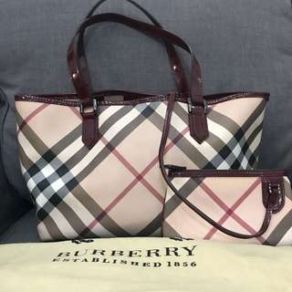 Burberry nova with pouch and dustbag - very good condition