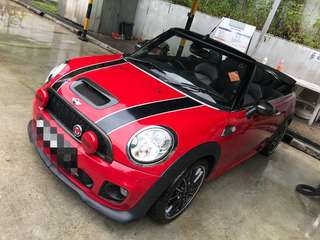Mini Cooper S JCW Convertible for rent