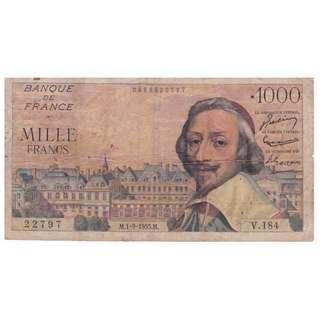 1955 France 1000 Francs