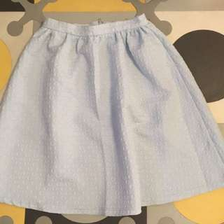 Top shop baby blue skirt