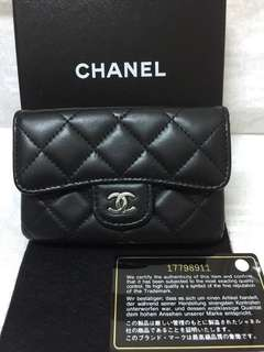 Chanel classic card&coins purse 👛 (lambskin) Authentic