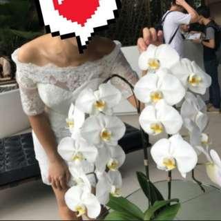 Pre wedding 一字肩輕婚紗 (中至大碼)