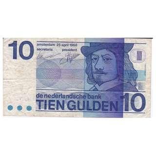 1968 Amsterdam 10 Gulden