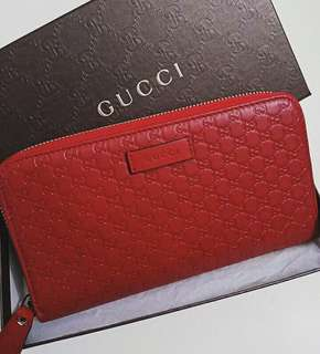 Gucci microguccisima zipper long wallet complete set no rec