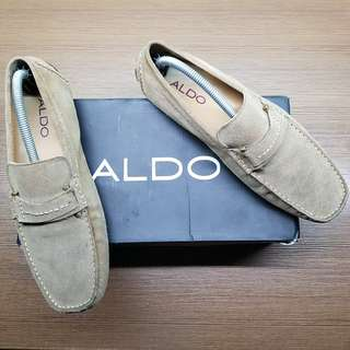 Aldo Men's Fildes Ash Gray Suede Drivers