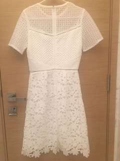 Reiss 100% new white dress