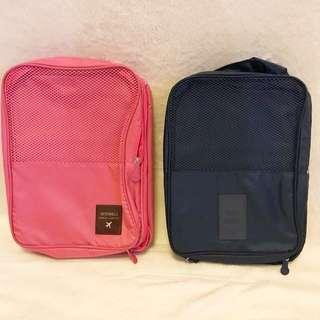 Shoe Bag Organizers (Pink/Navy)
