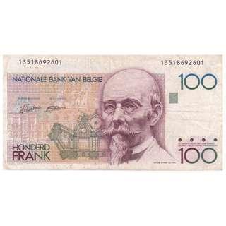 1982-94 Belgium 100 Francs