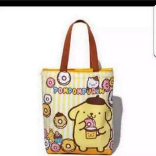 In Stock Pompompurin Design Shoulder Bag Tote Bag Size is 28 × 9 × 38  cm