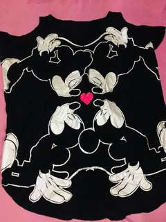 Mickey cold shoulder blouse