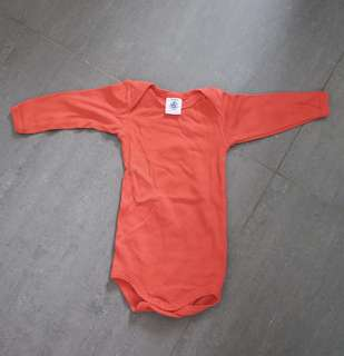 二手Petit Bateau bb 嬰兒紅色連身衣