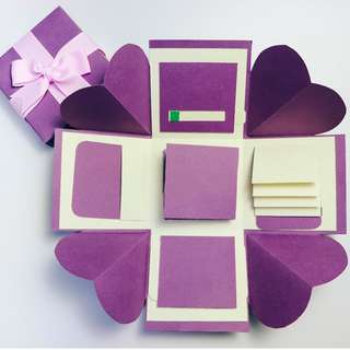 Classic Purple and Beige Explosion Gift Box