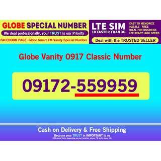 Globe Sim LTE Vanity Prefix 0917 Classic Number