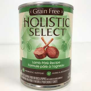 Holistic Select – Grain Free Lamb Pate Canned Dog Food (Improved Formula)