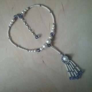 Necklace, beaded