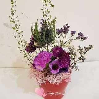 番梘花乾花擺設