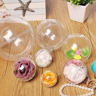 Clear Plastic Balls Ornament DIY Craft