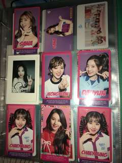 TWICE candy pop one more time omt 日專小卡