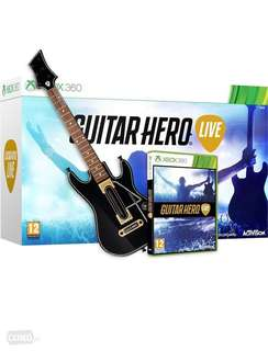 Guitar Hero Live bundle for Xbox 360 - Brand New in box