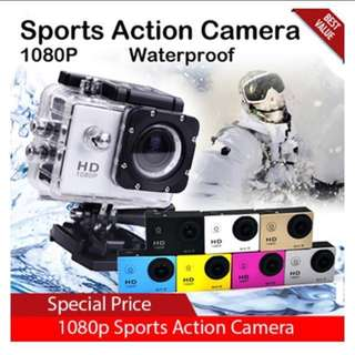 BN - 1080P SPORTS HD Action Camera / Waterproof / 30M / 170 wide angle