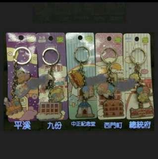Little Twin Star鎖匙扣一套共5個(台灣限定)