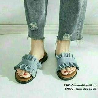 flatshoes ruffle