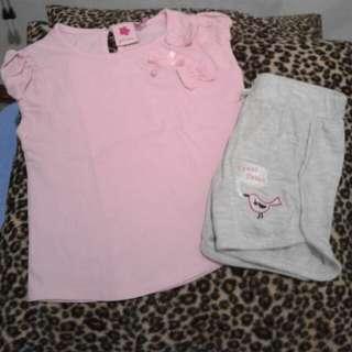 Juniors top & shorts