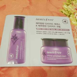 Innisfree 面霜+精華 orchid enriched cream + essence