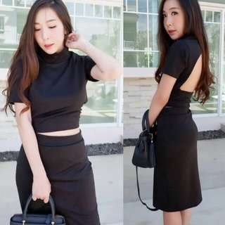 Set crop top and skirt ( f&a)